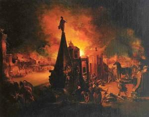 И. Г. Траутманн. «Пожар Трои»